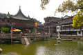 Yu garden in shanghai this is a view from yuan Stock Image