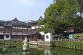 Yu garden in shanghai yuyuan located the southern part of is a famous classic it is characteristic of the architectural style Royalty Free Stock Photos