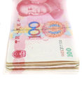 Yuan china currency bills Royalty Free Stock Photos
