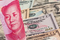 Yuan and Dollar Royalty Free Stock Photography