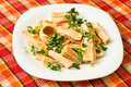Yuba (tofu bamboo) salad Stock Photo