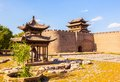 Yuci old town scene tower and rampart of the city and gloriette taken in historical chinese is a in shanxi china it is near Royalty Free Stock Images