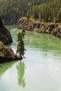 Yukon River surface Miles Canyon Whitehorse Canada Royalty Free Stock Photo