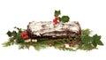 Yule Log Christmas Cake Royalty Free Stock Photo