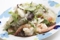 Yum woon sen with shrimp thai food vermicelli salad Stock Image