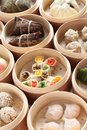 Yumcha dim sum in bamboo steamer chinese cuisine Royalty Free Stock Photography
