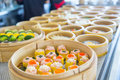 Yumcha or Dim sum, Chinese cuisine style steam food Royalty Free Stock Photo