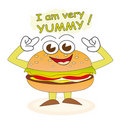 Yummy burger Royalty Free Stock Photo