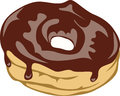 Yummy chocolate donut vector illustration of yoummy Stock Photos