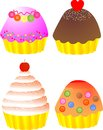 Yummy cup cakes Stock Image