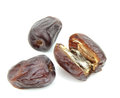 Yummy dates on white background Royalty Free Stock Photo