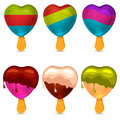 Yummy Hearts. Vector illustartion Royalty Free Stock Images