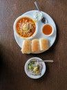 Yummy Spicy Misal Pav Royalty Free Stock Photo