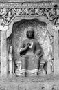 Yungang grottoes Buddha black white