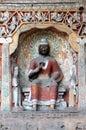 Yungang grottoes color Buddha