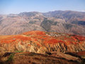 Yunnan dongchuan red field re located in china Royalty Free Stock Images