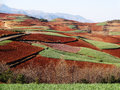 Yunnan dongchuan red field re located in china Royalty Free Stock Image