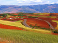 Yunnan red soil dry Royalty Free Stock Image