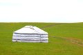 Yurt in the grassland. Royalty Free Stock Photo