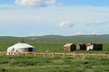 Yurt village mongolia a in Stock Image