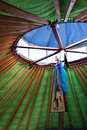 Yurts dances inner mongolia hulunbeier gold china s first qushui mergel riverside grassland account khan mongol tribes Stock Images
