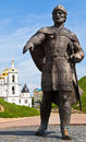Yury dolgoruky monument near dmitrov kremlin russia august prince at southern entrance to in russia on august the was Stock Photos