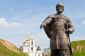 Yury dolgoruky monument near dmitrov kremlin russia august at southern entrance to in russia on august the statue was build in Royalty Free Stock Photos