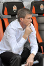 Yury maksimov head coach before the match between shakhtar donetsk city ukraine vs metallurg donetsk city ukraine ukrainian Royalty Free Stock Image