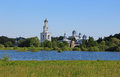 Yuryevo veliky novgorod russia the nature of the churches of the region the sights of great the russian countryside the summer Royalty Free Stock Photography