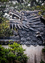 Yuyuan garden dragon head on a wall in in shanghai china Royalty Free Stock Images