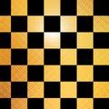 Złoty chessboard Obraz Royalty Free