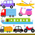 A-Z alphabets : Car / Vehicles / Transportation Royalty Free Stock Photography