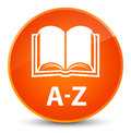A-Z (book icon) elegant orange round button