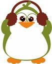 Z earmuffs radosny Pingwin Obraz Royalty Free