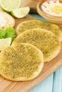 Zaatar & Cheese Manakish Royalty Free Stock Photo