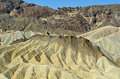 Zabriske point death valley california zabriskie is a part of the amargosa range in national park in usa once level layers of clay Royalty Free Stock Photography