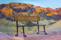Zabriskie Point Bench Royalty Free Stock Photo