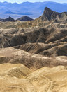 Zabriskie Point at Death Valley Stock Images