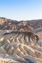 Zabriskie point death valley california panorama from zabriesie at sunset Royalty Free Stock Photography