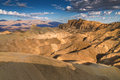 Zabriskie Point in Death Valley, California Royalty Free Stock Photo