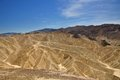 Zabriskie point in death valley national park badland at california usa Stock Photos
