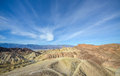 Zabriskie point, death valley Royalty Free Stock Photo