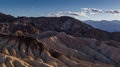 Zabriskie point in death valley national park usa Stock Images