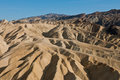 Zabriskie Point dunes in CA  Royalty Free Stock Photos