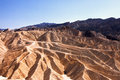 Zabriskie point the famous death valley in california Stock Photos