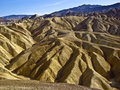 Zabriskie point rock formations at death valley Stock Image