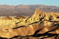 Zabriskie point surrounded by a maze of vibrantly colored badlands Royalty Free Stock Photo