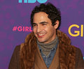 Zac posen fashion designer arrives on the red carpet for the new york premiere of the third season of the hit hbo cable comedy Royalty Free Stock Photos