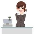 Zachte kassier woman Royalty-vrije Stock Afbeelding