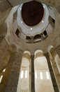 Zadar church interior of the of st donat in croatia Stock Images